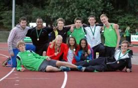 Meerkamp en sprint groepsfoto