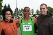 Na laatse onderdeel NK Meerkamp 2013 zus (links) en halfbroer( rechts)
